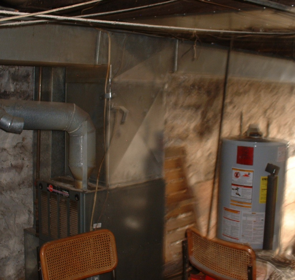Basement Water Heater and Furnace